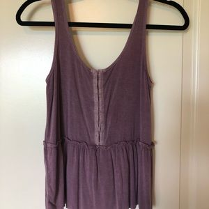 AE purple peplum tank